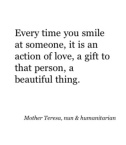 A smile is a kind act of love