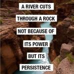 a river cuts through