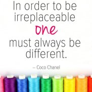 Be different, be irreplacable