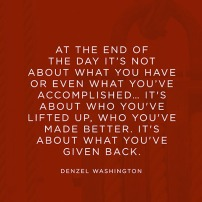 How have you impact the life of others?