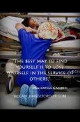 Lose yourself in service