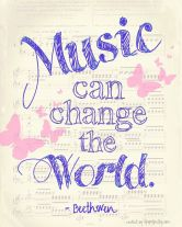 Music unites and heals the world