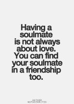 For the love of friendship