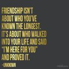 The best of friends are not always those you've known the longest..